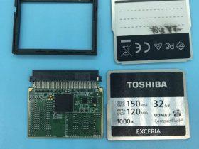 东芝EXCERIA 1000X 32GB 高速CF卡 无法识别数据恢复成功