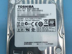 东芝1TB移动硬盘MQ01ABD100二次开盘数据恢复成功