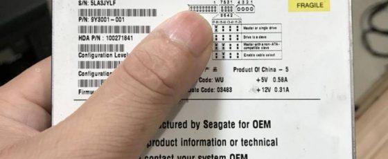 希捷UX系列硬盘ST340015A电机损坏卡死