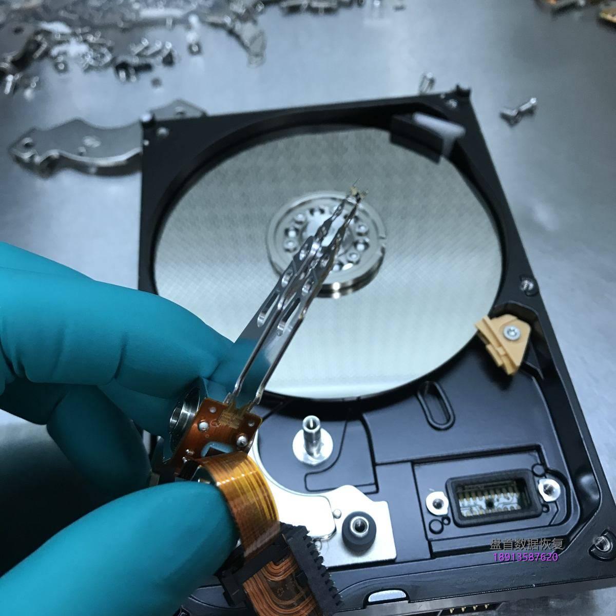电脑主机箱被踢倒了导致WD3200AAJS台式机硬盘损坏进行开盘数据恢复成功