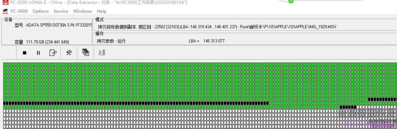威刚120g固态硬盘SM2256K主控掉盘无法识别不读盘SSD固态硬盘数据恢复成功