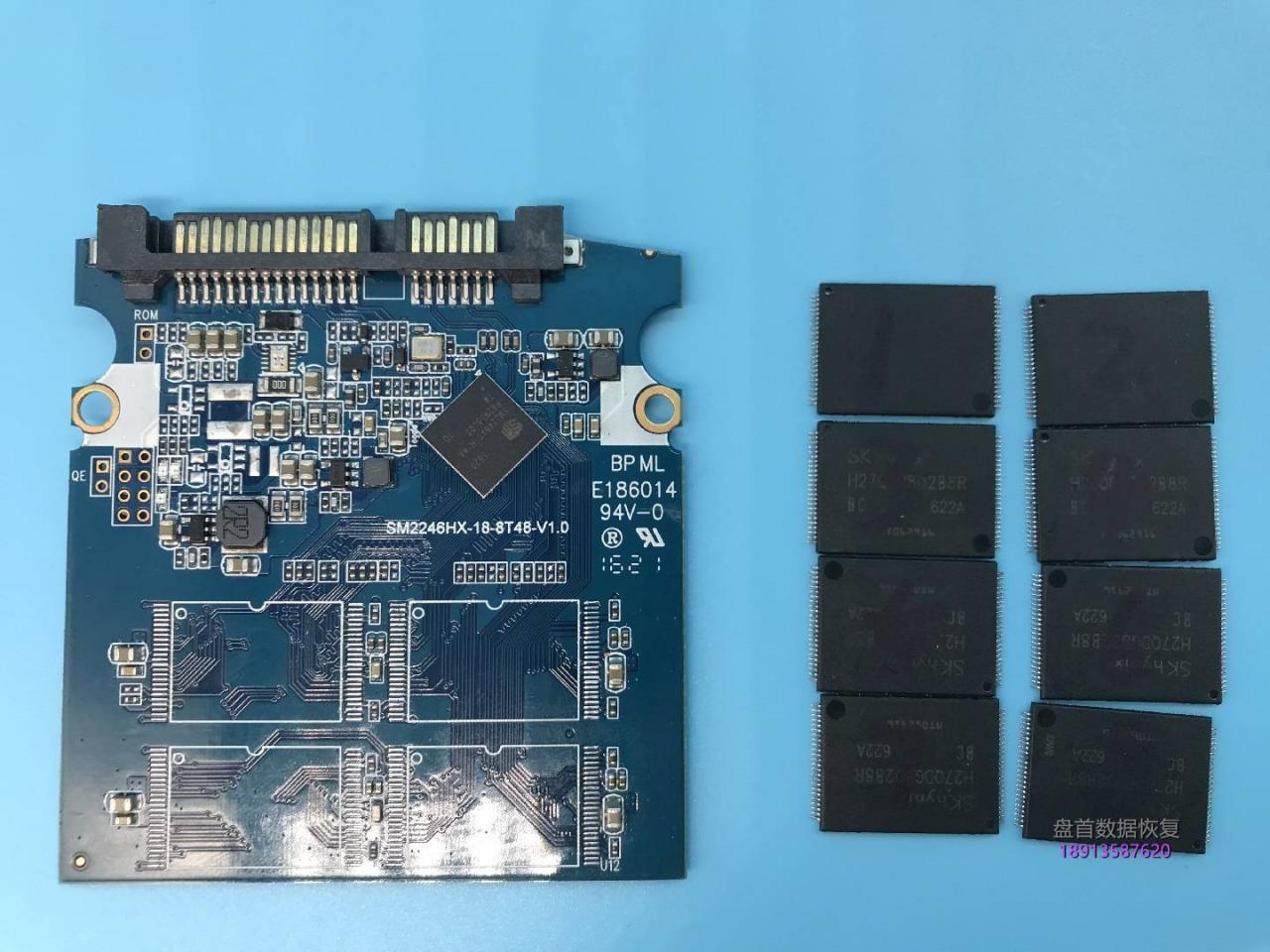 SM2246XT主控PC3000 SSD数据恢复黑块太多无法恢复使用芯片级数据恢复成功