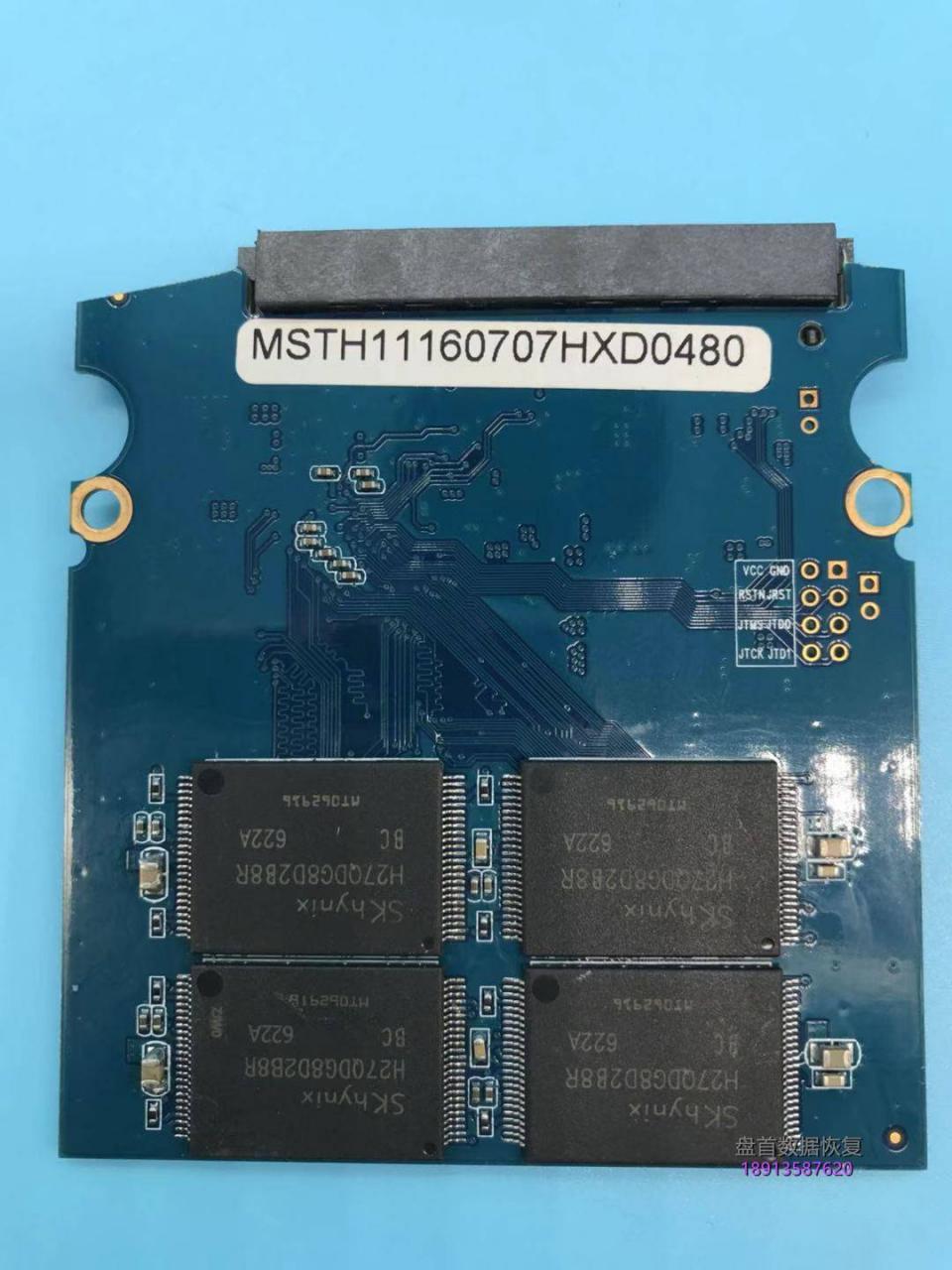 SM2246XT主控德乐120G固态硬盘掉盘无法识别不读盘数据恢复成功