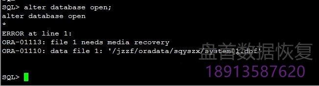 AIX小型机Oracle数据库恢复成功