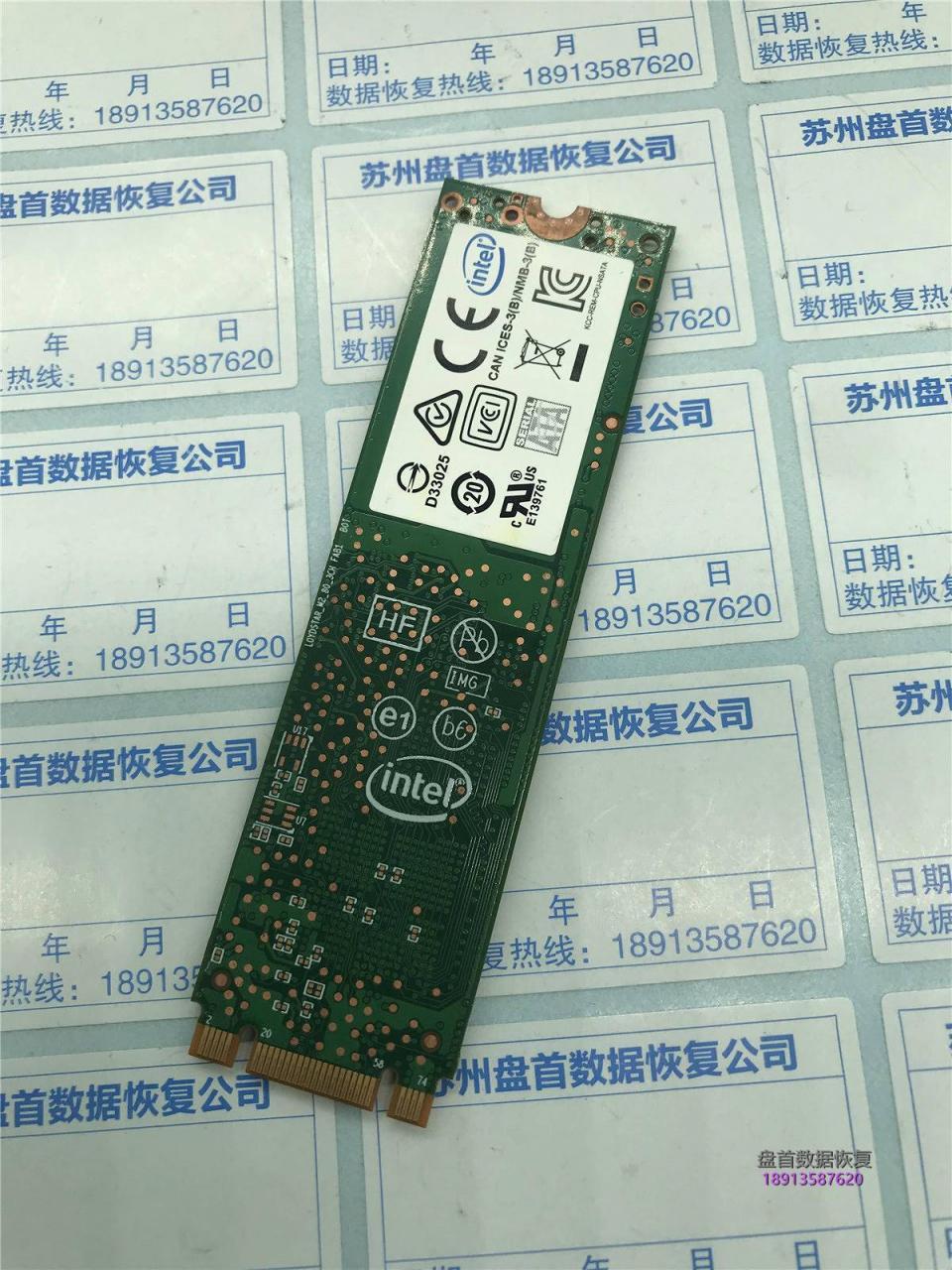 SSDSCKKW180H6识别不到SSD卡LOGO界面数据恢复成功