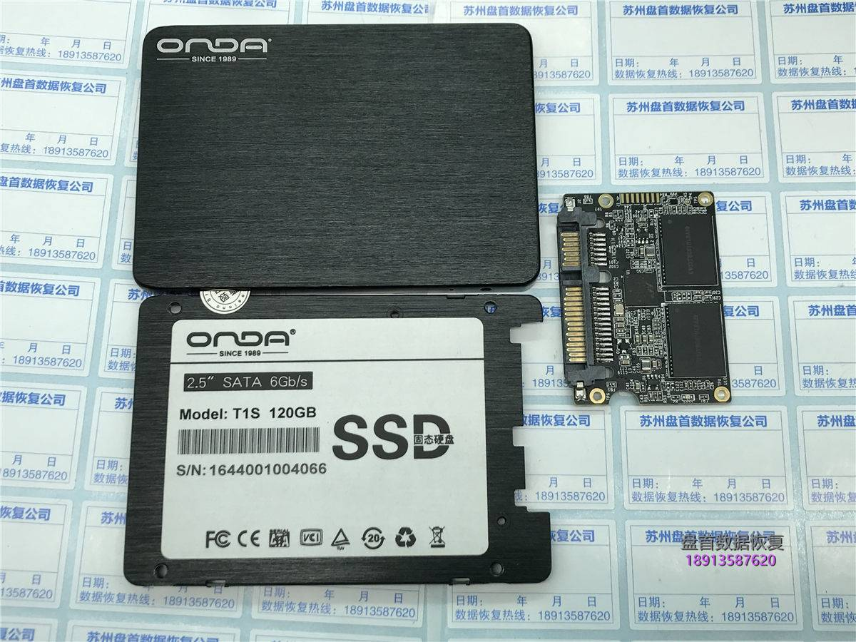 ONDA昂达120G固态Marvell 88NV1120主控SSD掉盘无法读取数据不读盘数据恢复成功