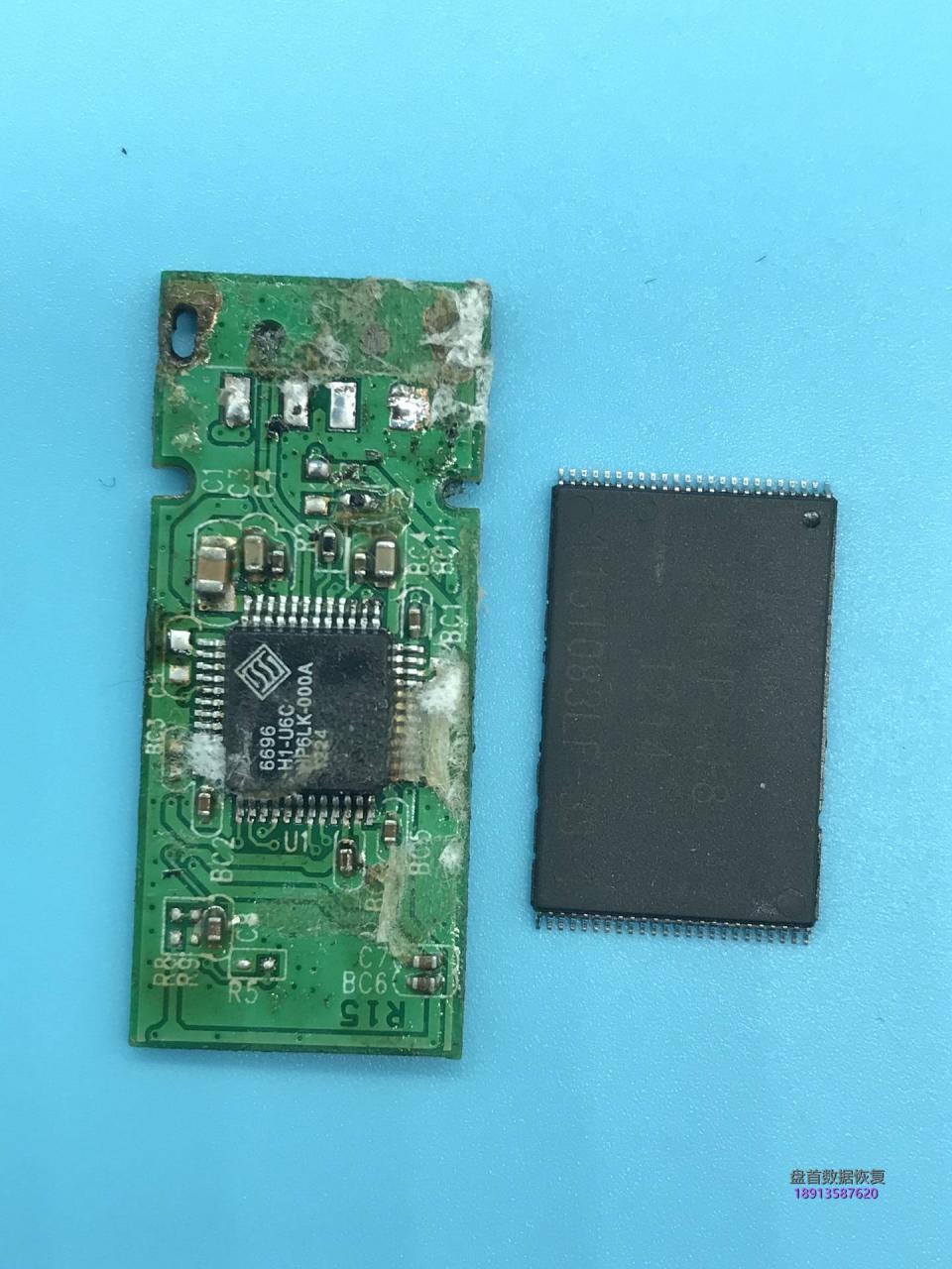 8GU盘SSS6696主控芯片级数据恢复