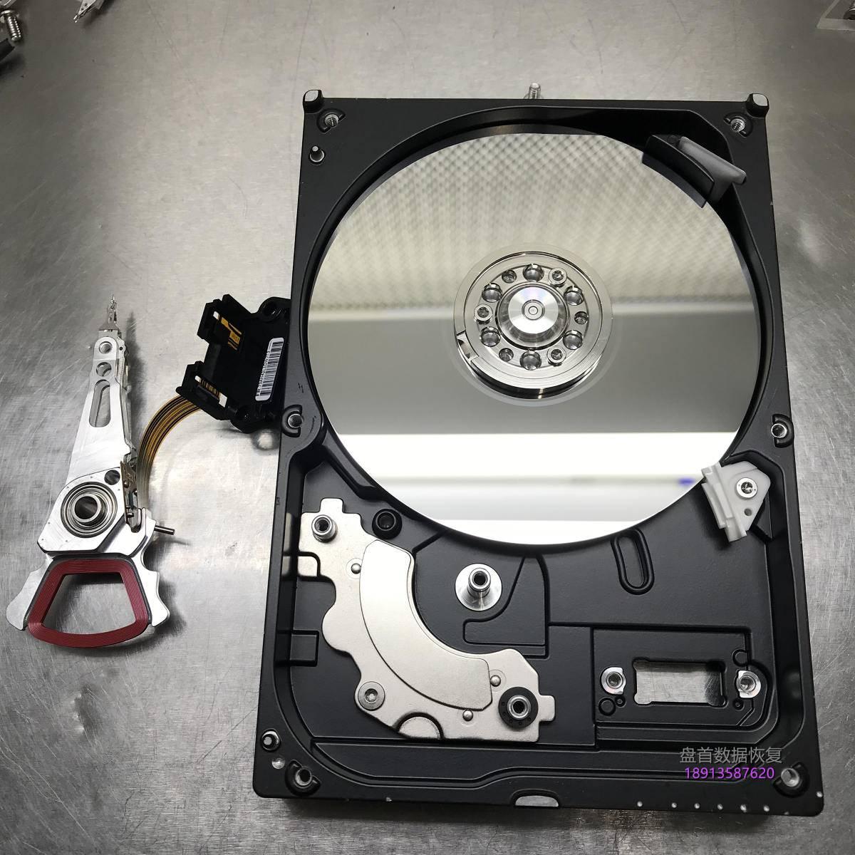 西部数据500G台式机硬盘磁头损坏开盘数据恢复成功