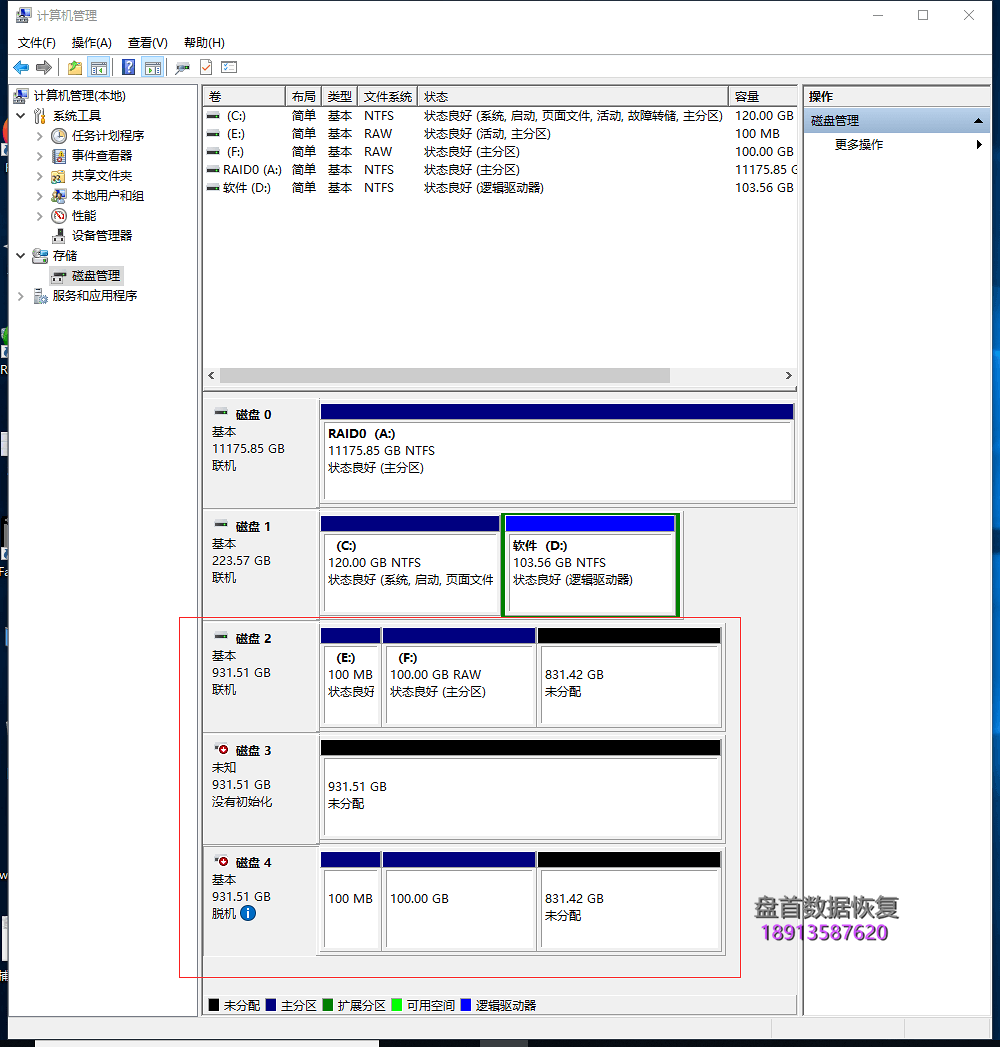 DELL T430服务器3盘RAID5数据恢复成功两块硬盘掉线导致服务器宕机