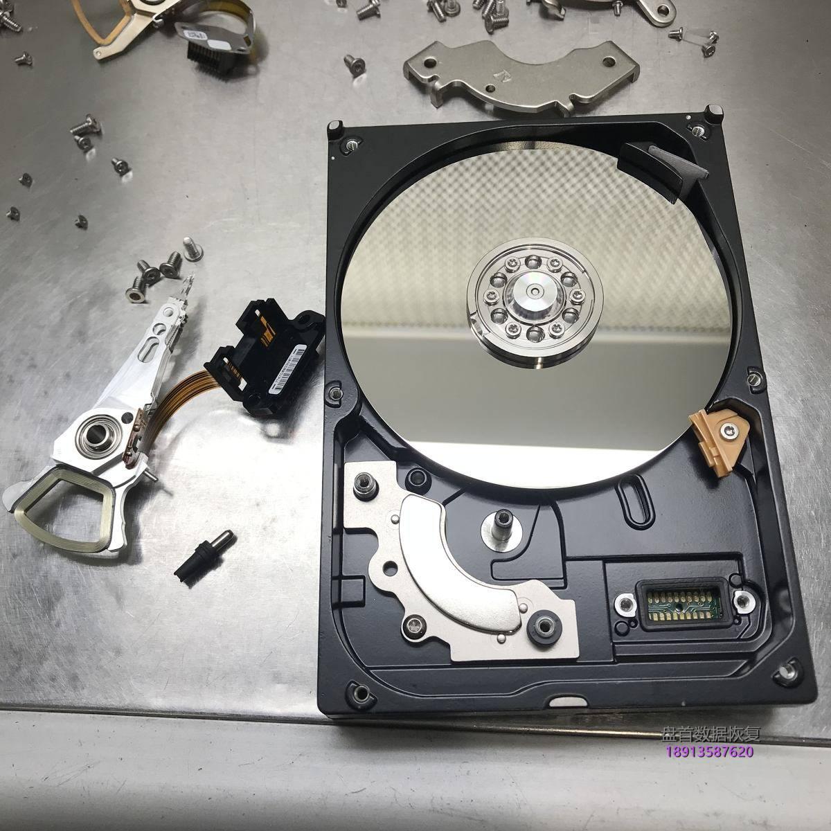 电脑开机硬盘异响WD3200AAJS-00YZCA0磁头损坏开盘数据恢复