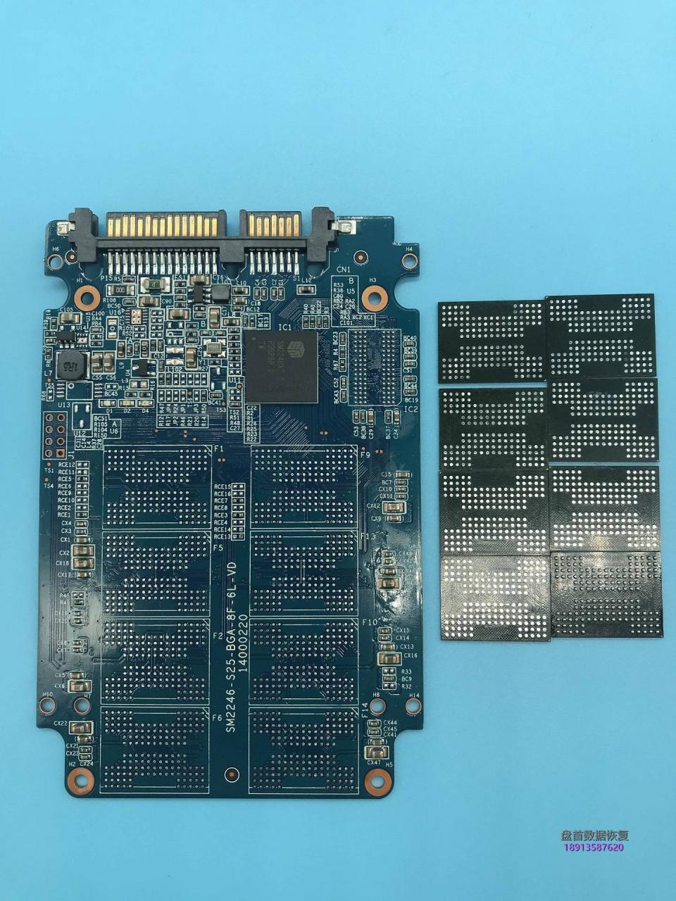 SM2246XT主控掉固件掉盘无法识别七彩虹SS150 128G固态硬盘掉盘无法读盘数据恢复成功