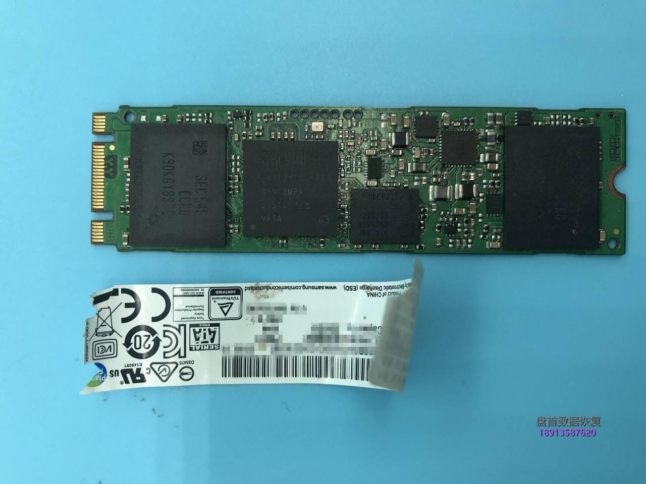 三星MZNLN256HCHP-000L2固态硬盘S4LN062X01-Y030主控固态硬盘损坏无法识别数据恢复
