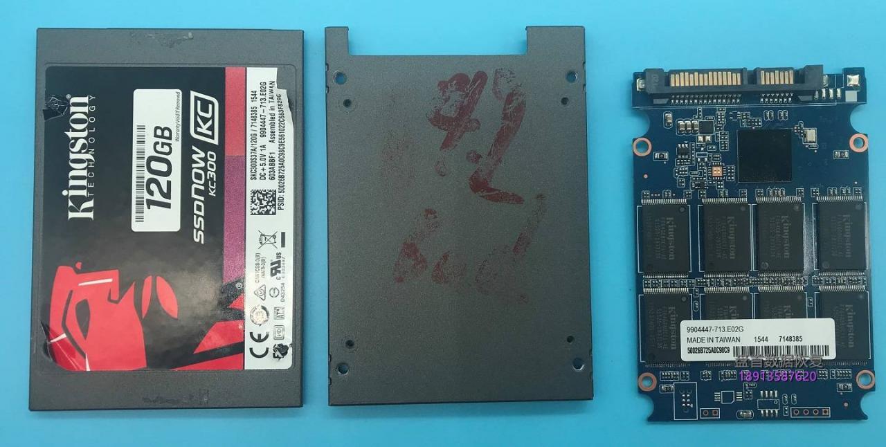 SandForce(20026BB)0.0MB不读盘修复金士顿KC300固态硬盘SF-2281VB4主控无法识别数据恢复