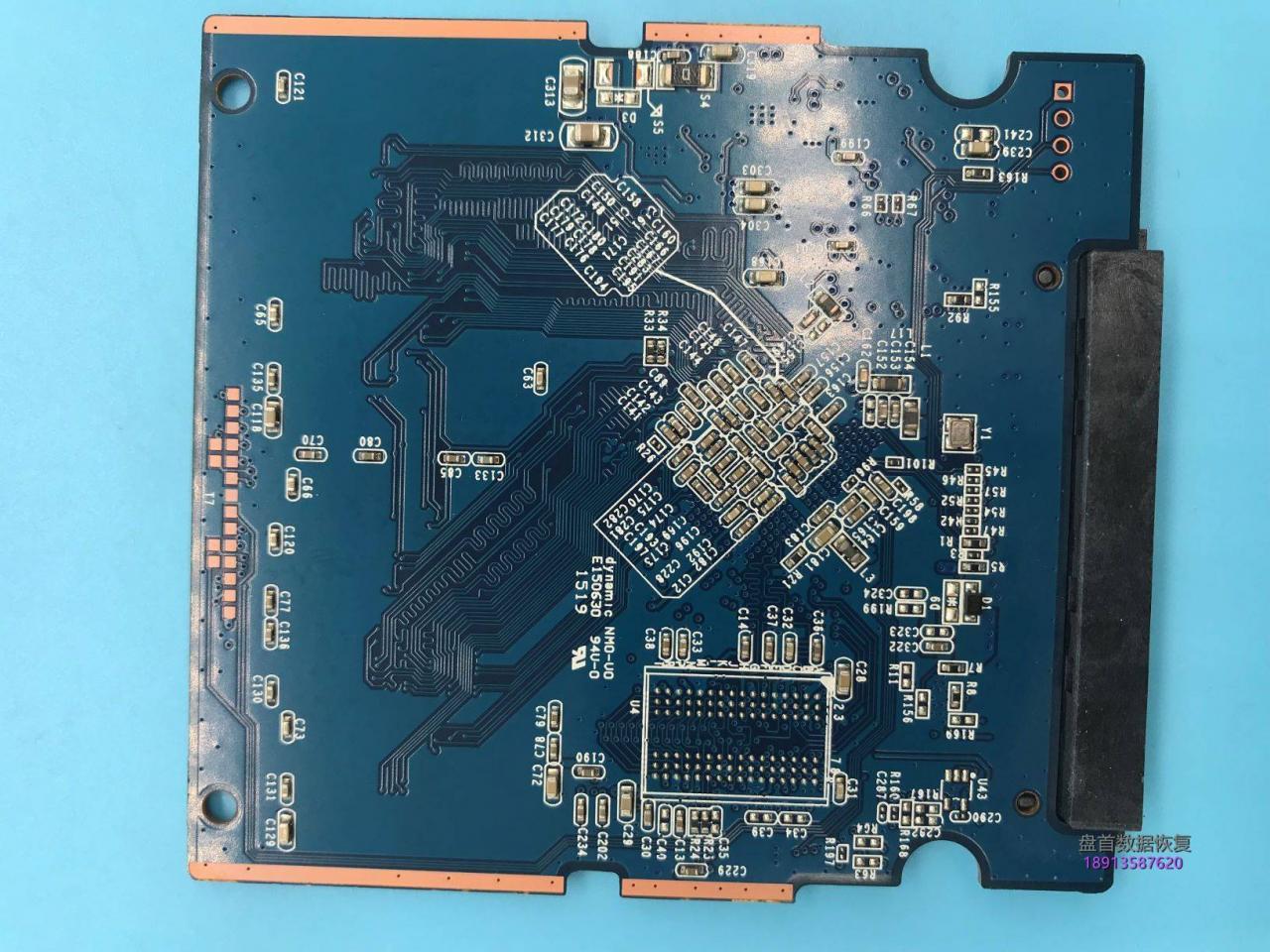 使用PC3000 SSD成功修复TC58NC1000GSB主控东芝Q300掉盘无法识别不认盘数据恢复成功