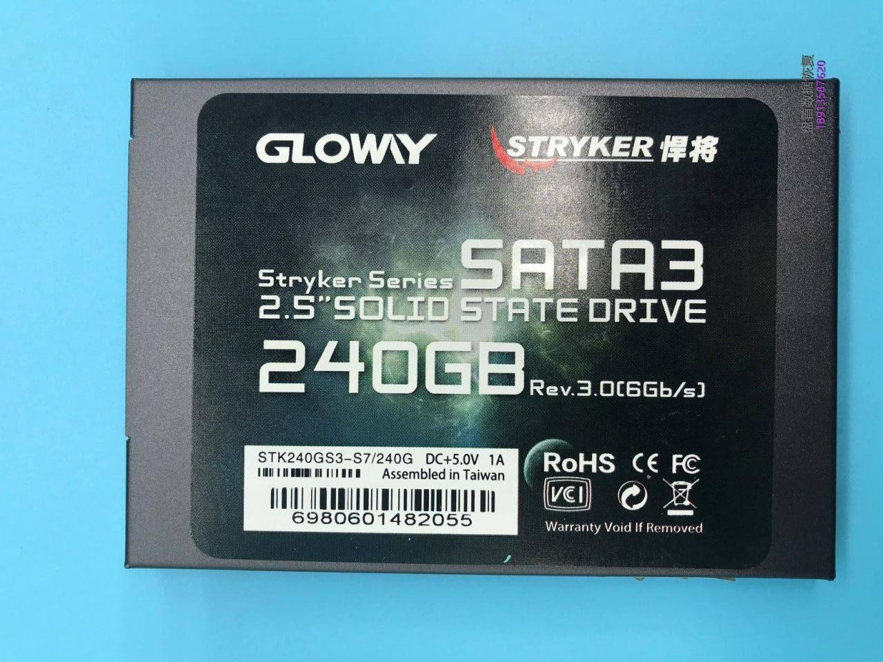 光威悍将240G SSD固态突然损坏电脑开机卡死在LOGO界面无法读取硬盘里面的数据