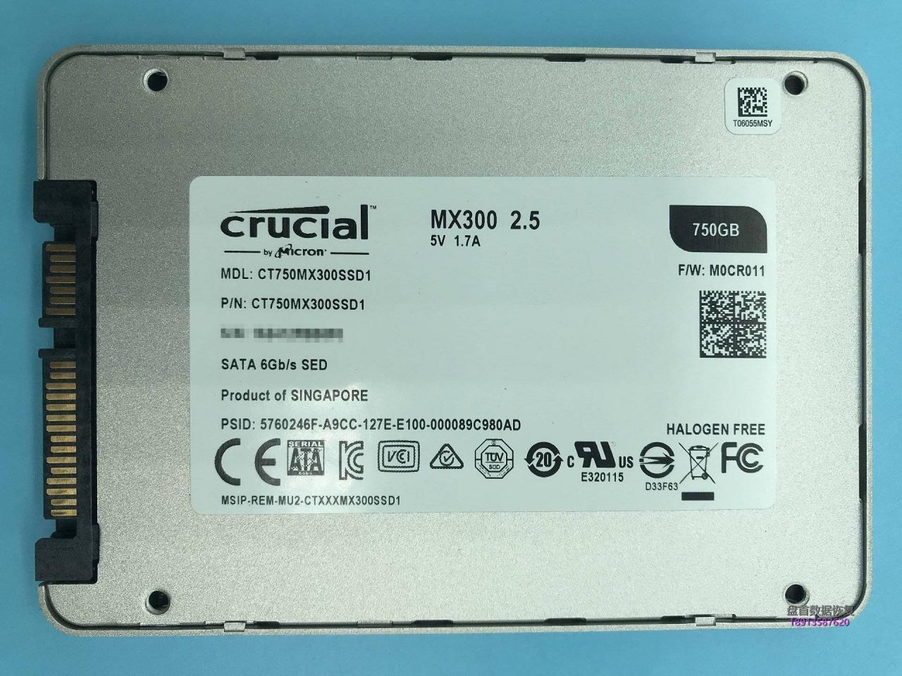美光Crucial MX300 750GB CT750MX300SSD1固态硬盘误操作导致Outlook邮件PST文件丢失恢复成功