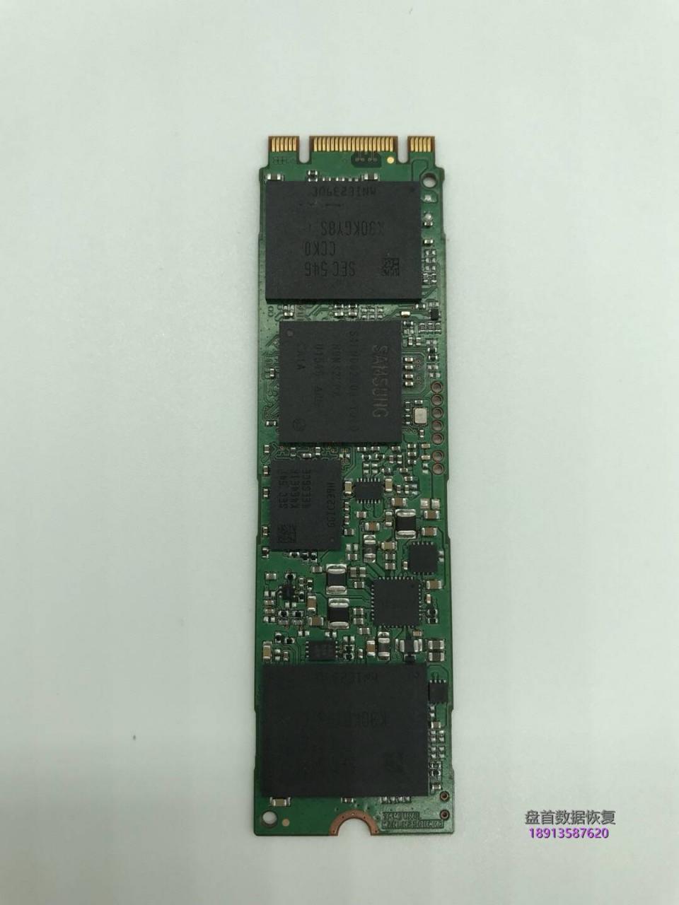 Samsung三星SSD M.2 128GB PM871 MZNLN128HCGR掉盘无法识别不读盘数据恢复成功