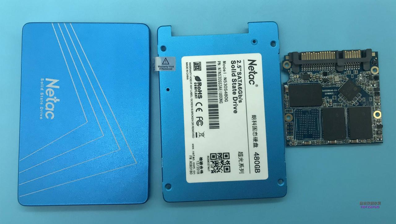 朗科N530S480G SSD固态硬盘SM2258XT主控掉盘无法识别数据成功恢复