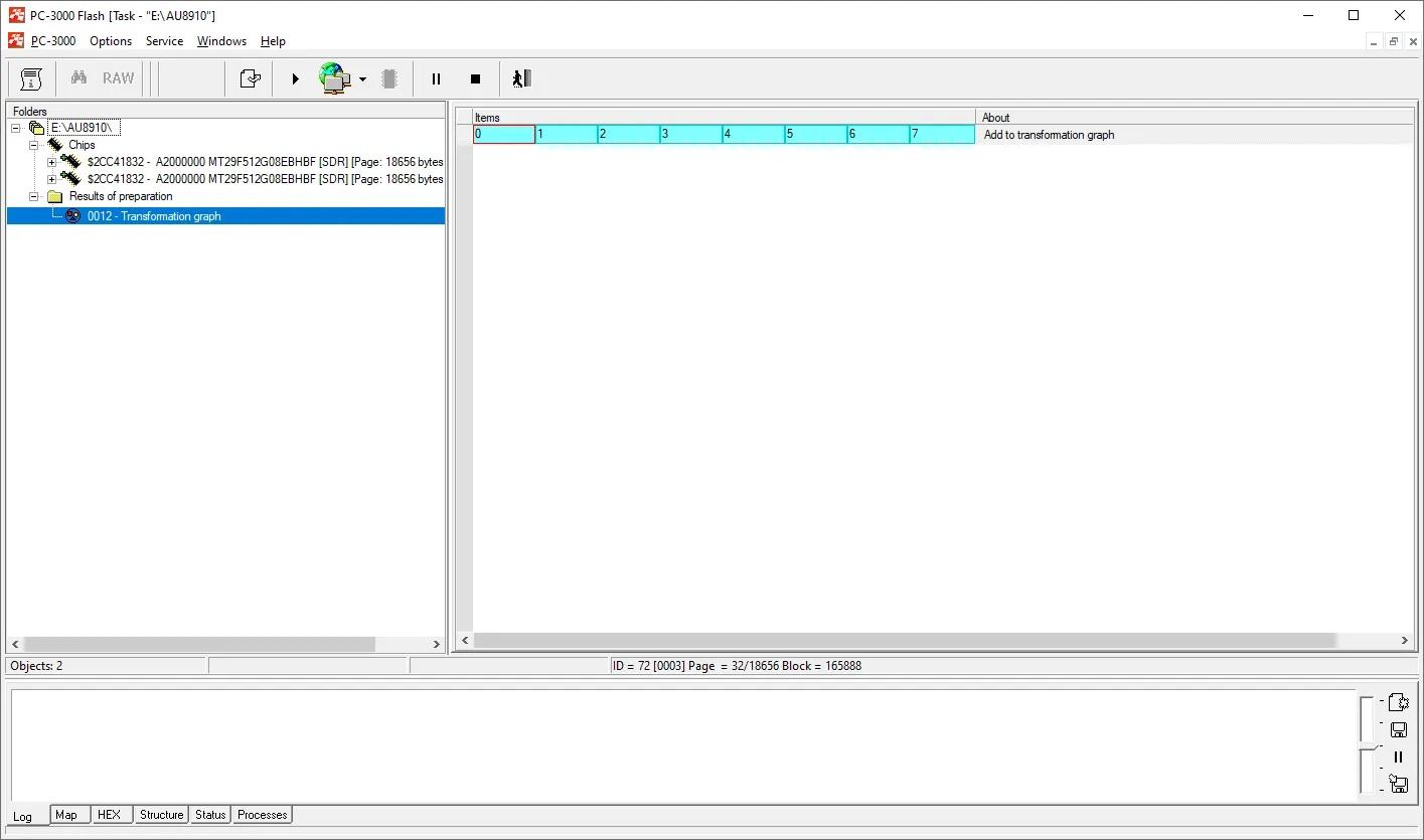 PC-3000 Flash如何使用最新的AU89102DF主控从NAND闪存驱动器中恢复数据