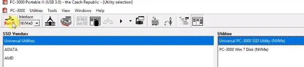 PC-3000 Portable III SSD系统如何从NVMe SSD恢复数据Silicon Motion系列(SM2260,SM2263XT,HPH8068)