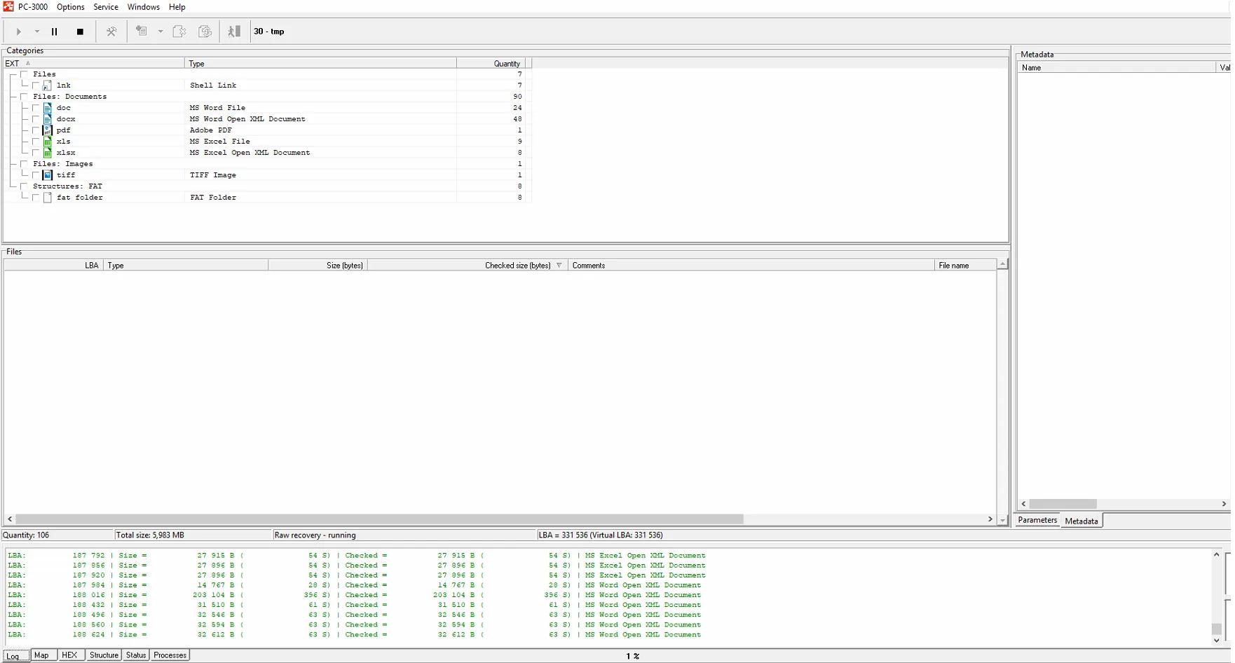 PC3000 Flash从基于FC1178-FC1179主控芯片的U盘中恢复数据的6个步骤
